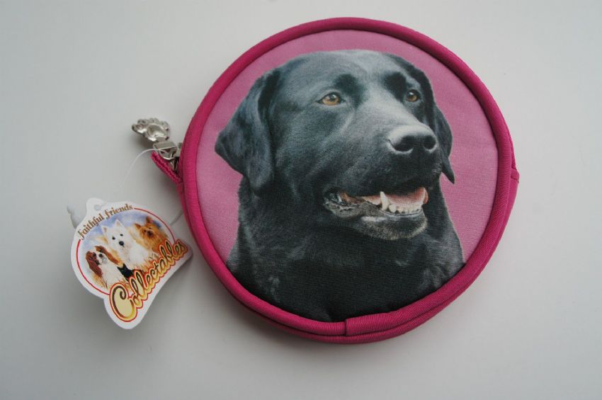 BLACK LABRADOR DOG COIN PURSE